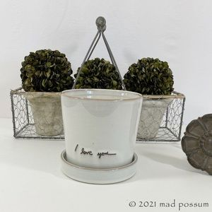 Hearth & Hand Engraved I Love You Planter